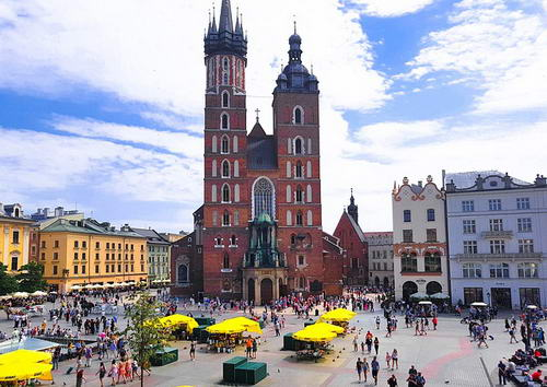 Saint Mary Church Old Town in Krakow